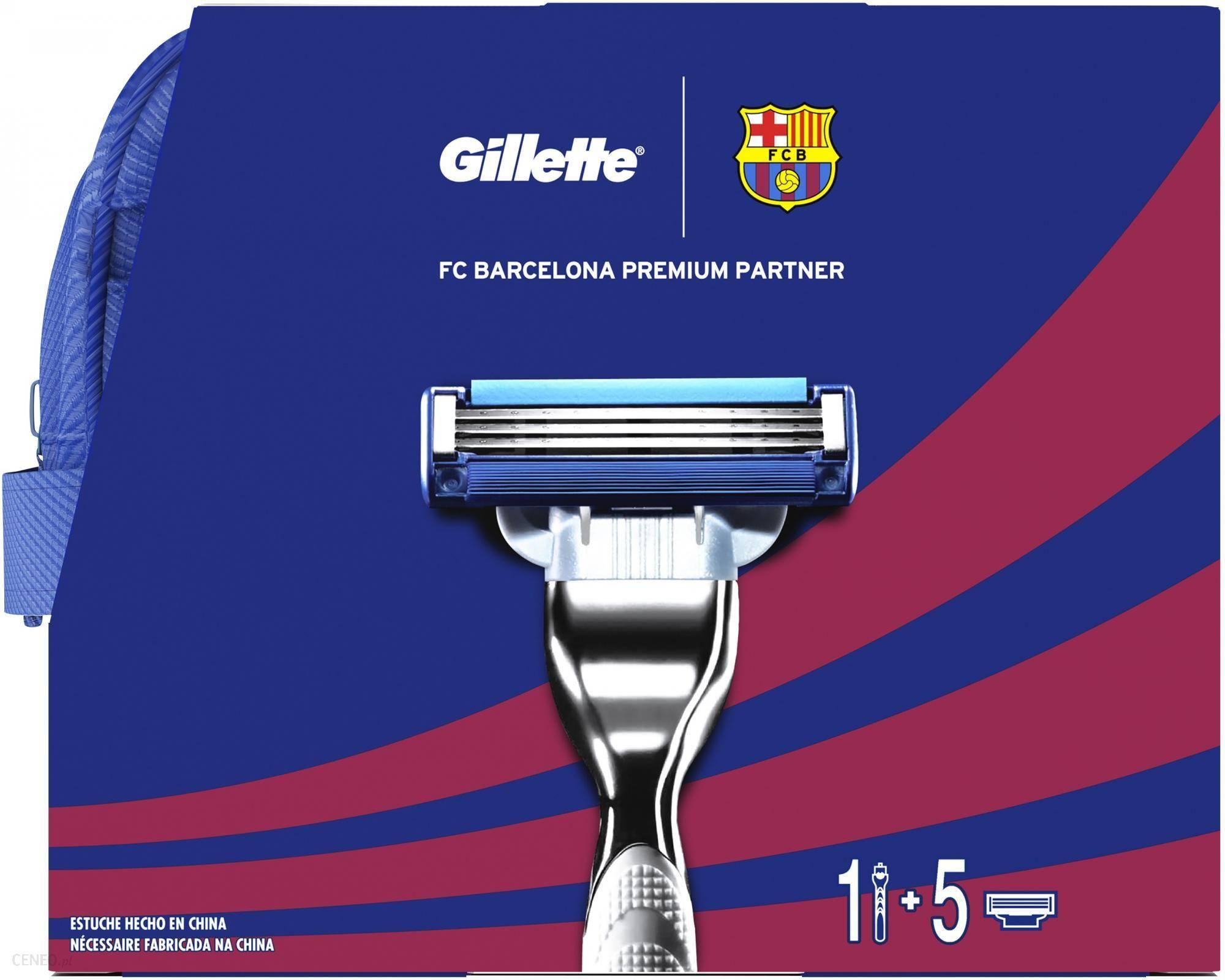 fecf444fd Zestaw kosmetyków dla mężczyzny Gillette Mach3 FC Barcelona maszynka + 5  głowic + żel do golenia