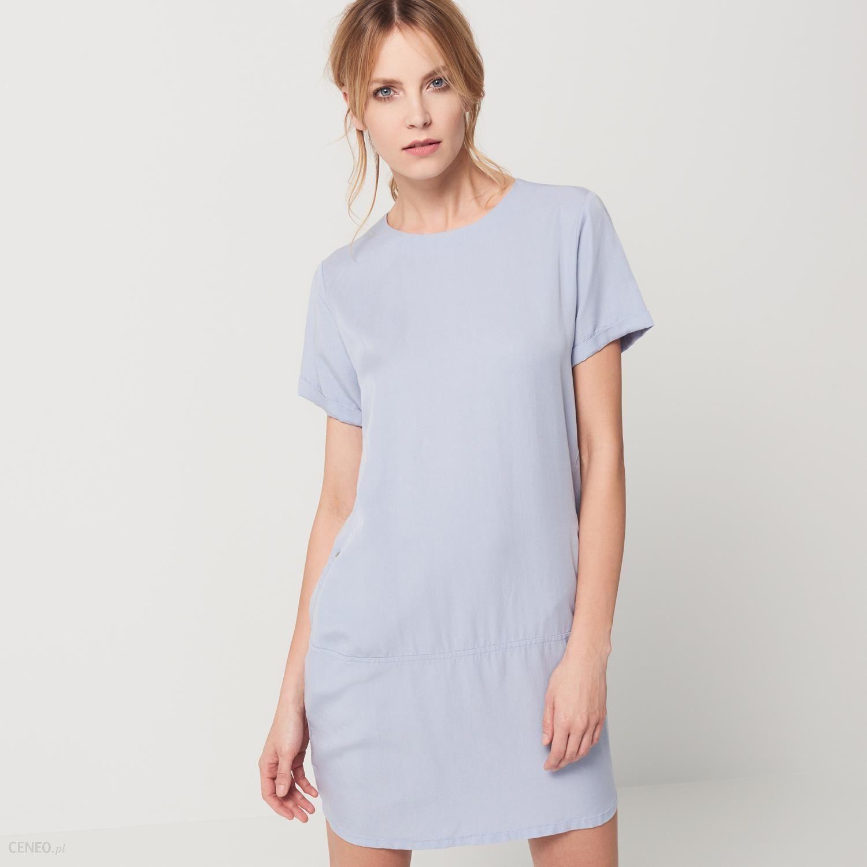 c737dc4811 Mohito - Sukienka z kieszeniami - Niebieski - damski - Ceny i opinie ...