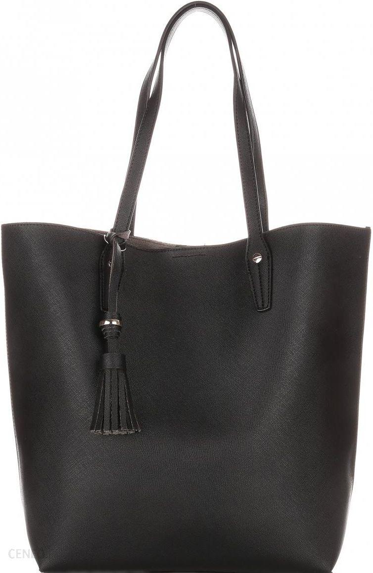 4320455578a8a Duża Torba Damska David Jones Typu Shopper Bag XXL z Kosmetyczką Czarna -  zdjęcie 1