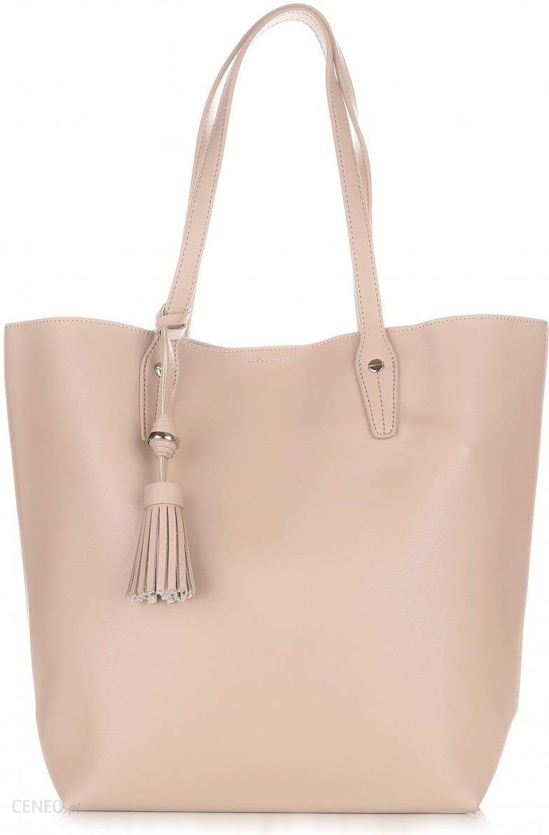 9ed808147fd46 Duża Torba Damska David Jones Typu Shopper Bag XXL z Kosmetyczką Ziemista -  zdjęcie 1