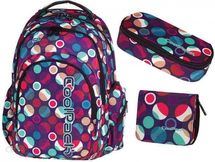 7d21a7e09dc32 CoolPack Zestaw Szkolny Plecak Młodzieżowy Piórnik Portfel Mosaic Dots -  zdjęcie 1