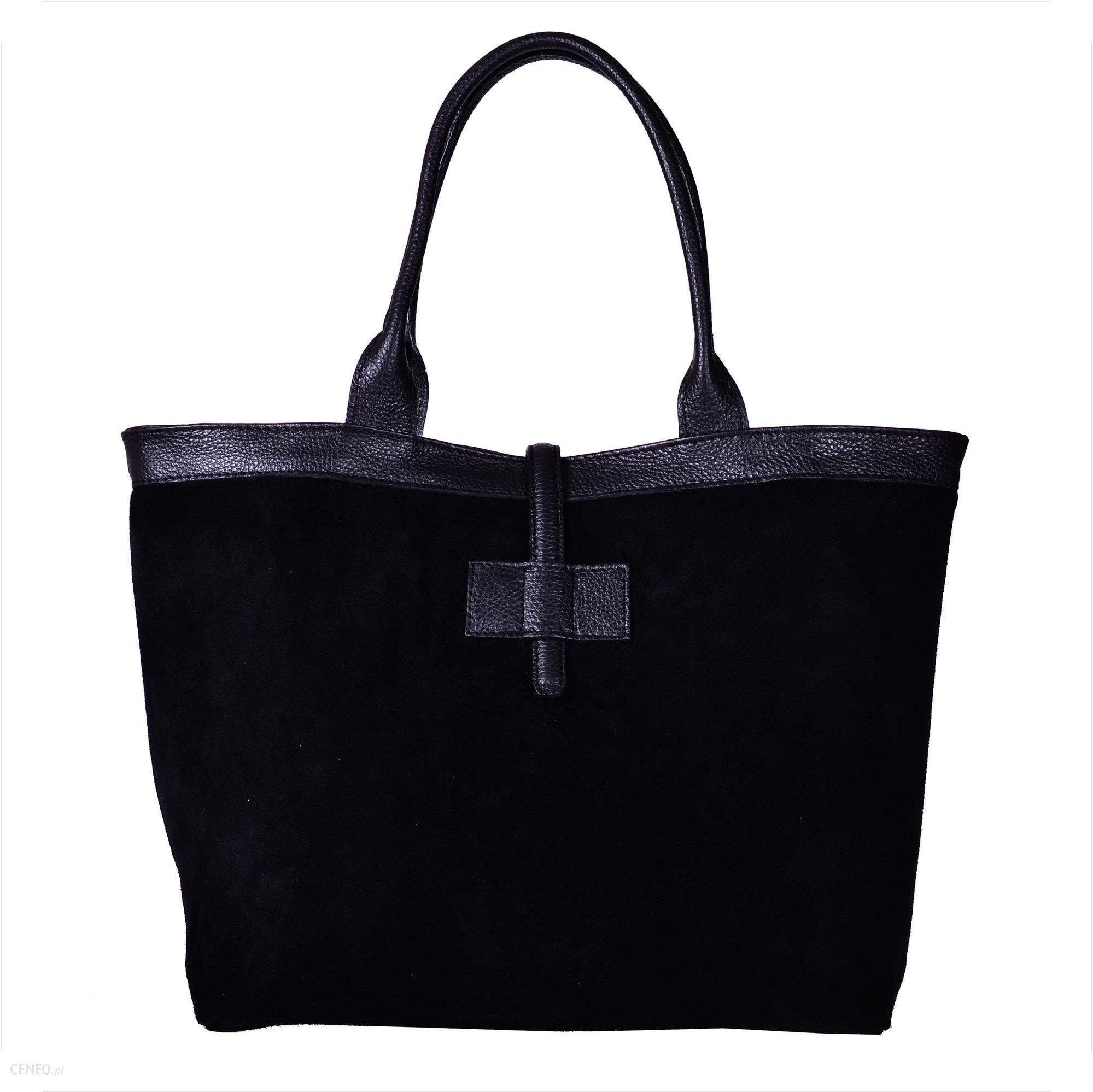 59bf68e6992aa Nowy wzór torebka zamszowa shopper bag czarna - Ceny i opinie - Ceneo.pl