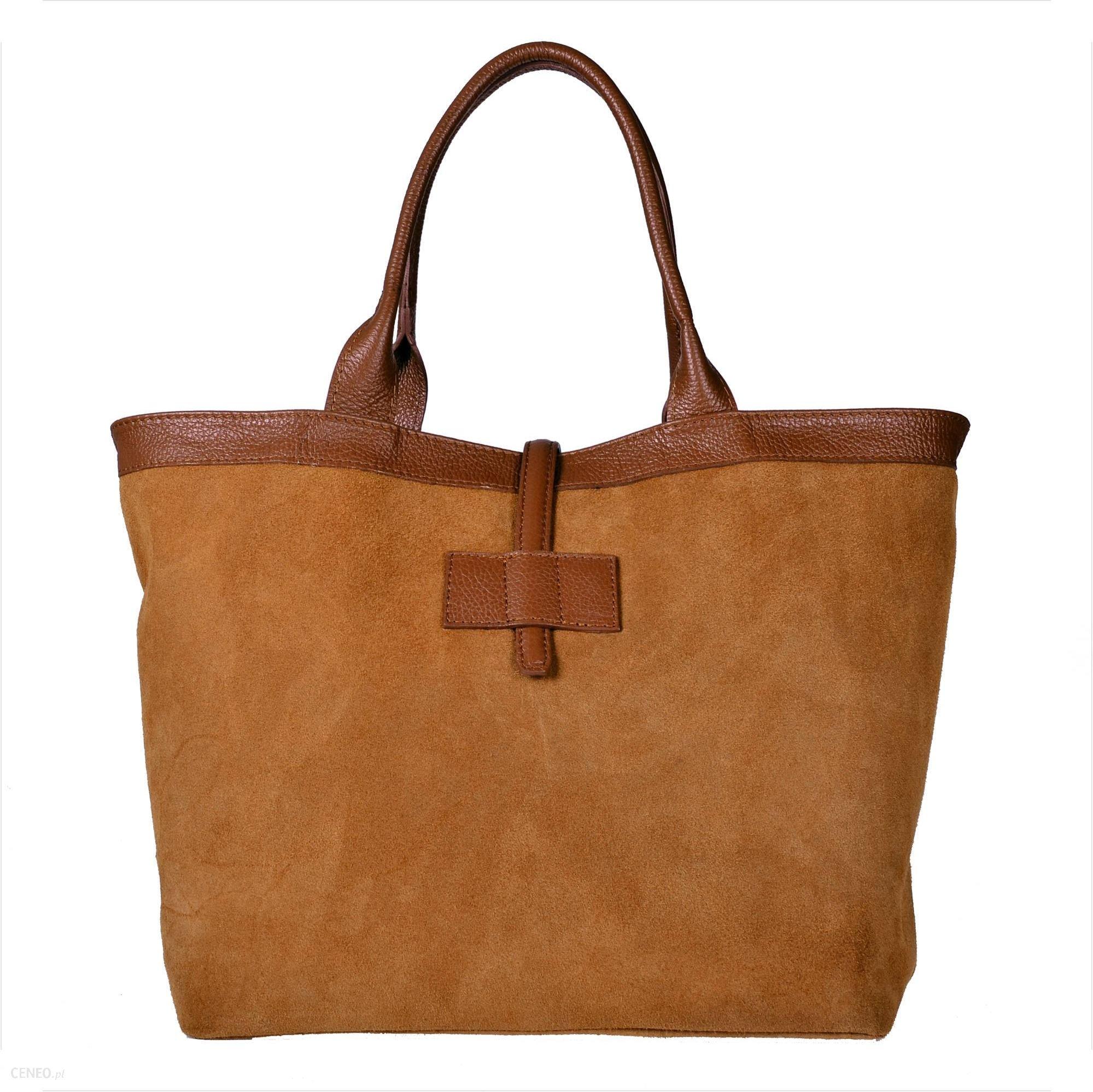 7581f45ce7da2 Nowy wzór torebka zamszowa shopper bag kolor musztardowy - Ceny i ...