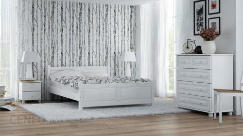 Magnat łóżko Drewniane Lena 160x200 Białe