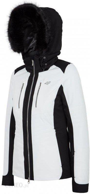 [T4Z16 KUDN100] Kurtka narciarska damska KUDN100 biały