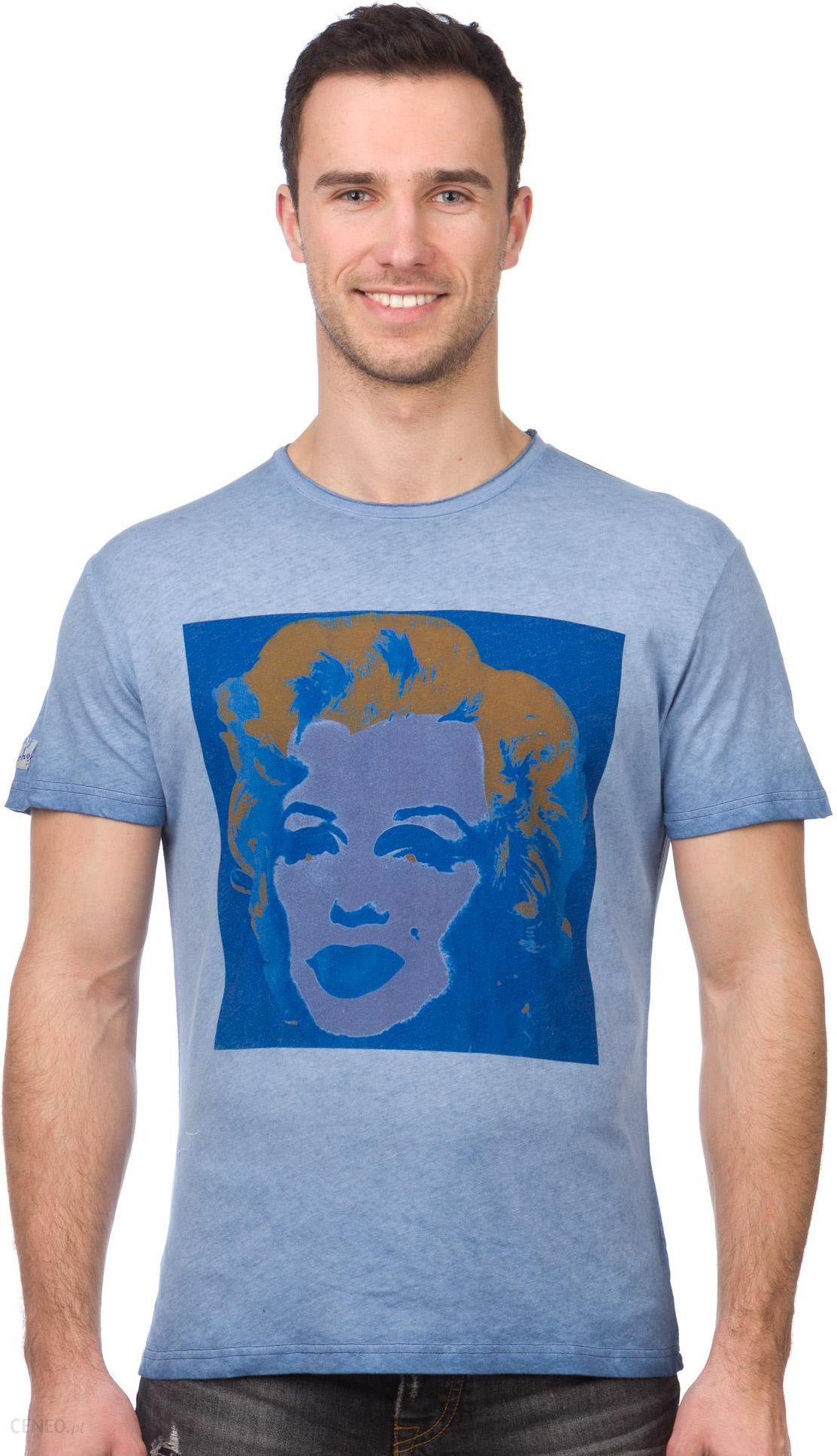 5984371f031c Pepe Jeans T-shirt męski Portrait L niebieski - Ceny i opinie - Ceneo.pl