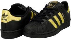 buty adidas czarne ze złotymi paskami