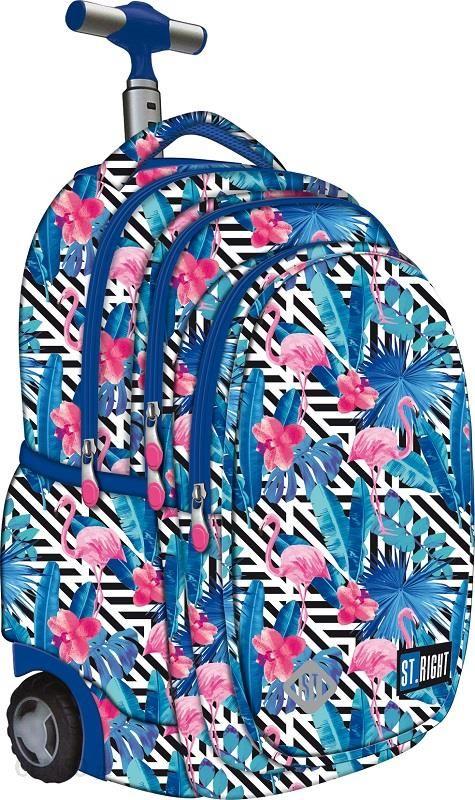 f1e06e949cb17 St.Majewski Plecak Na Kółkach St.Right TB-01 Flamingo Pink&Blue 612756 -