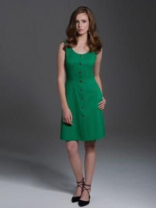 57bf50ee0c Makadamia Zielona Dresowa Mini Sukienka Bombka - Ceny i opinie ...