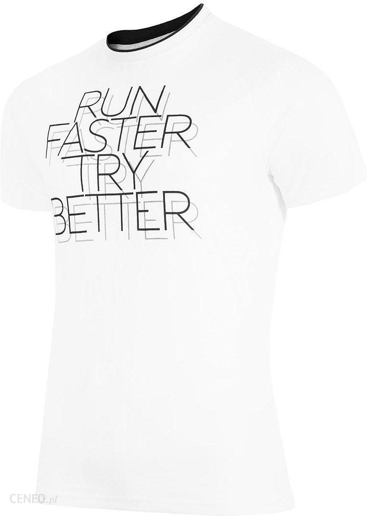 324cb0e91c4abc 4F Męski T-shirt sportowy Run Faster biały L - Ceny i opinie - Ceneo.pl