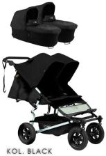 Mountain Buggy Duet Black Głęboko spacerowy
