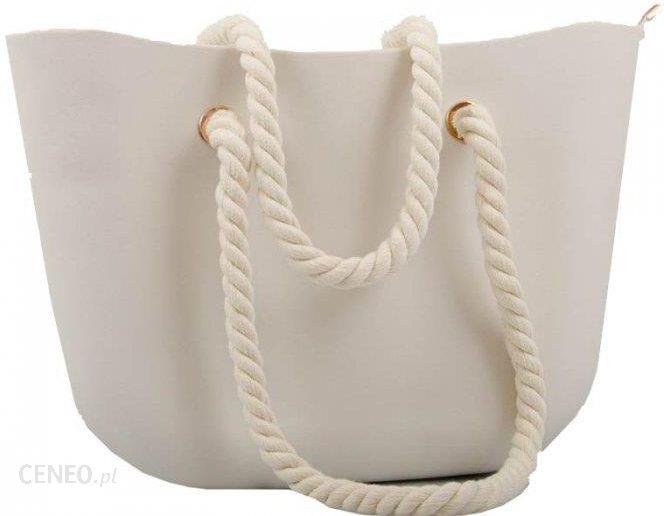 2fb76662fba90 Torba Gumowa Torebka Shoper Jelly Bag Kremowa Nude - Ceny i opinie ...