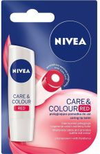 Nivea Care & Colour Red Pomadka ochronna do ust 4,8g