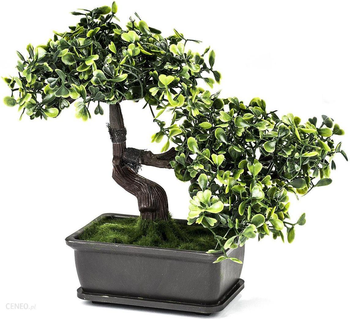 Sztuczne Drzewko Bonsai W Doniczce Zielony