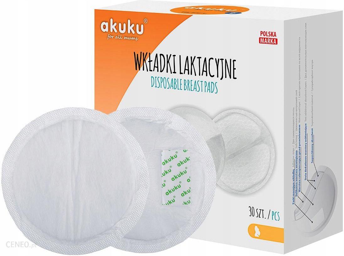 Akuku Wkładki Laktacyjne Ultracienkie I Ultrachłonne Żelowe 30 szt. A0354