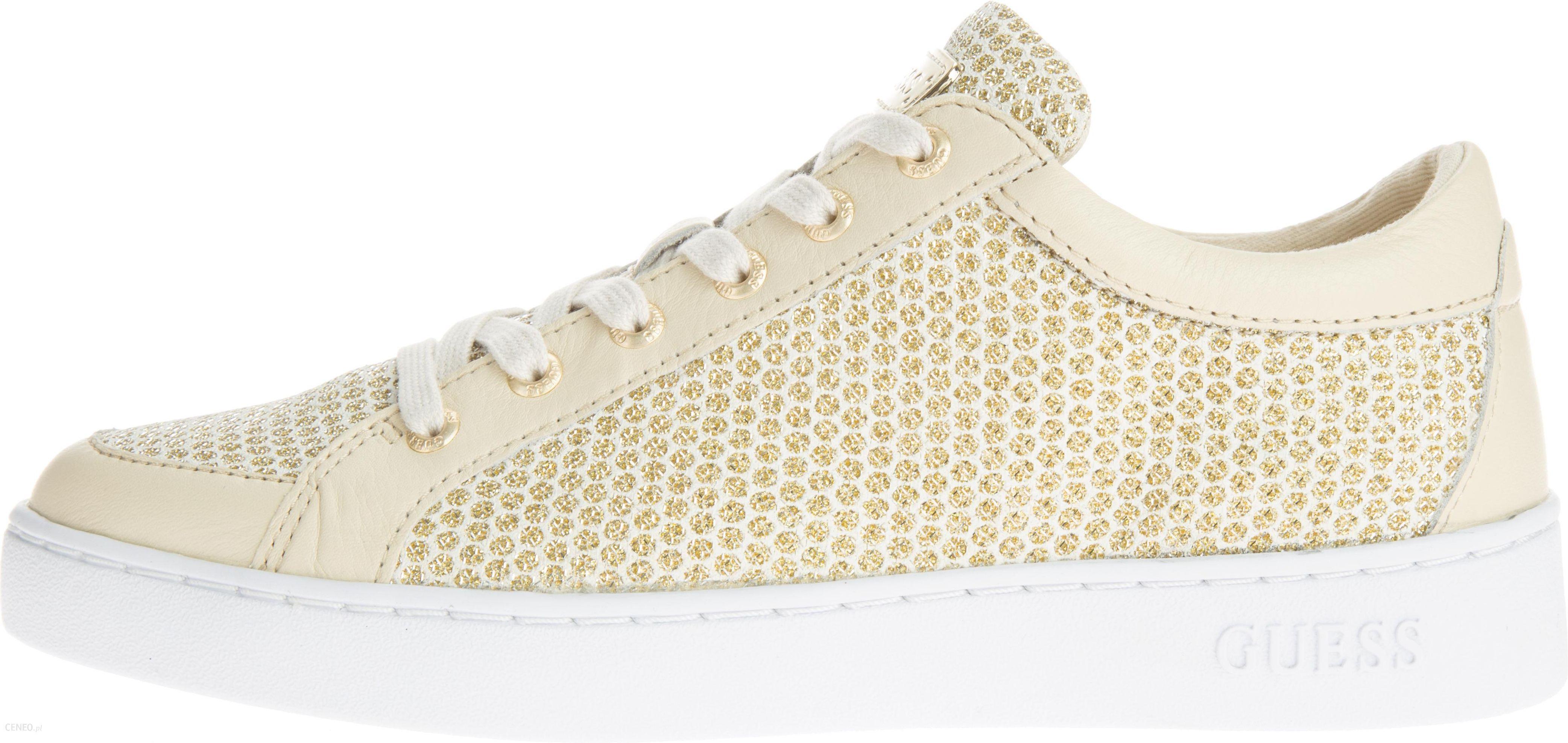 Guess Glinna Sneakers Brązowy 36 Ceny i opinie Ceneo.pl