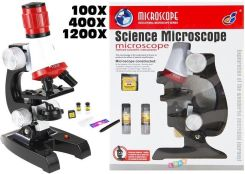 lean toys Duży Mikroskop Dla Małego Naukowca Na Baterie
