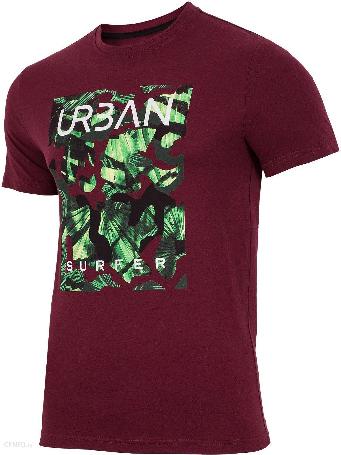 cfa00d5fa T-shirt męski TSM007 - bordowy - Ceny i opinie - Ceneo.pl