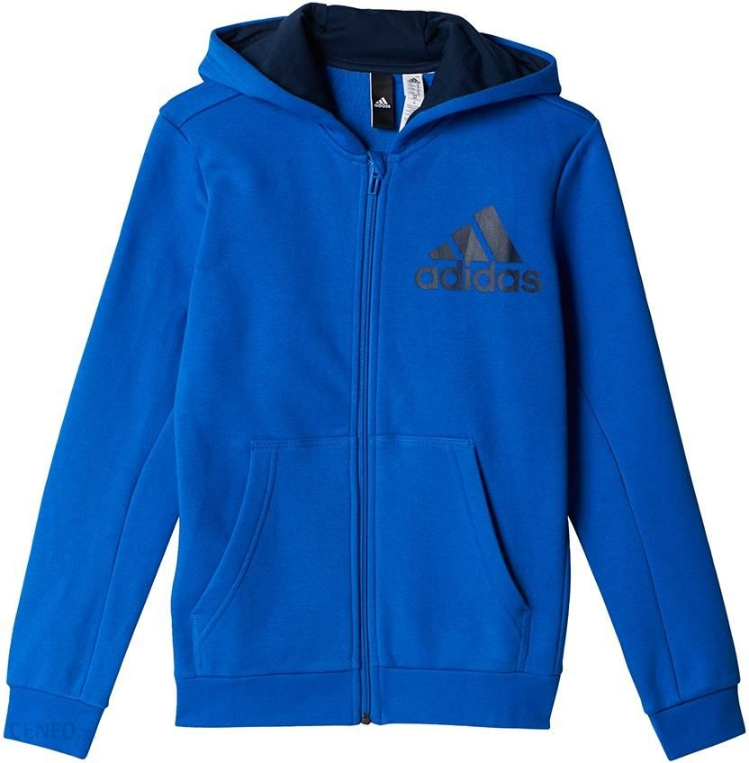 Bluza adidas Essentials Logo Full Zip Hoodie BP8781 rozm. 164 cm Ceny i opinie Ceneo.pl