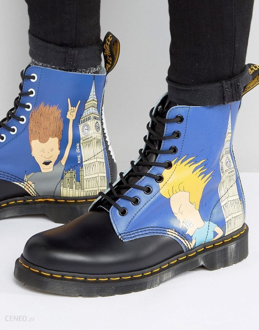 9b4e8394ba Dr Martens 1460 Pascal Beavis & Butthead Print 8 Eye Boots - Blue - zdjęcie  1
