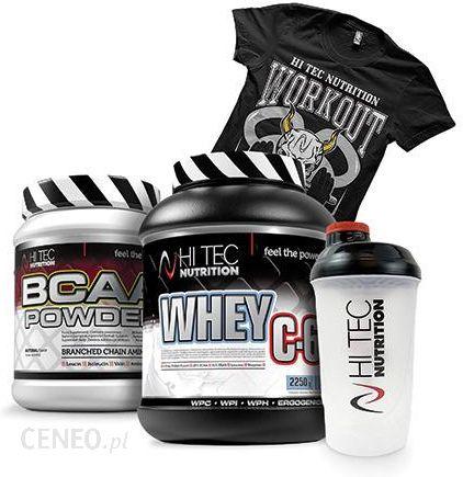 najniższa cena najbardziej popularny więcej zdjęć Odżywka białkowa HI-TEC Whey C6 2250g HI TEC BCAA Powder 500g + Shaker +  Koszulka - Ceny i opinie - Ceneo.pl