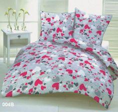 Pościel Z Kory 200x220 Wzór 004b Różowe Serca Serduszka Na Guziki