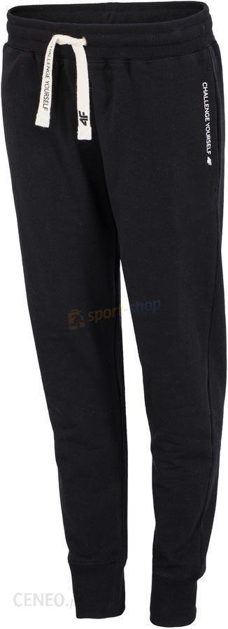 Spodnie damskie dresowe SPDD002 4F (czarne)