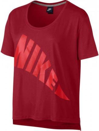 46afa3888 Nike Miler Koszulka do biegania Kobiety V-Neck czerwony XS Koszulki ...