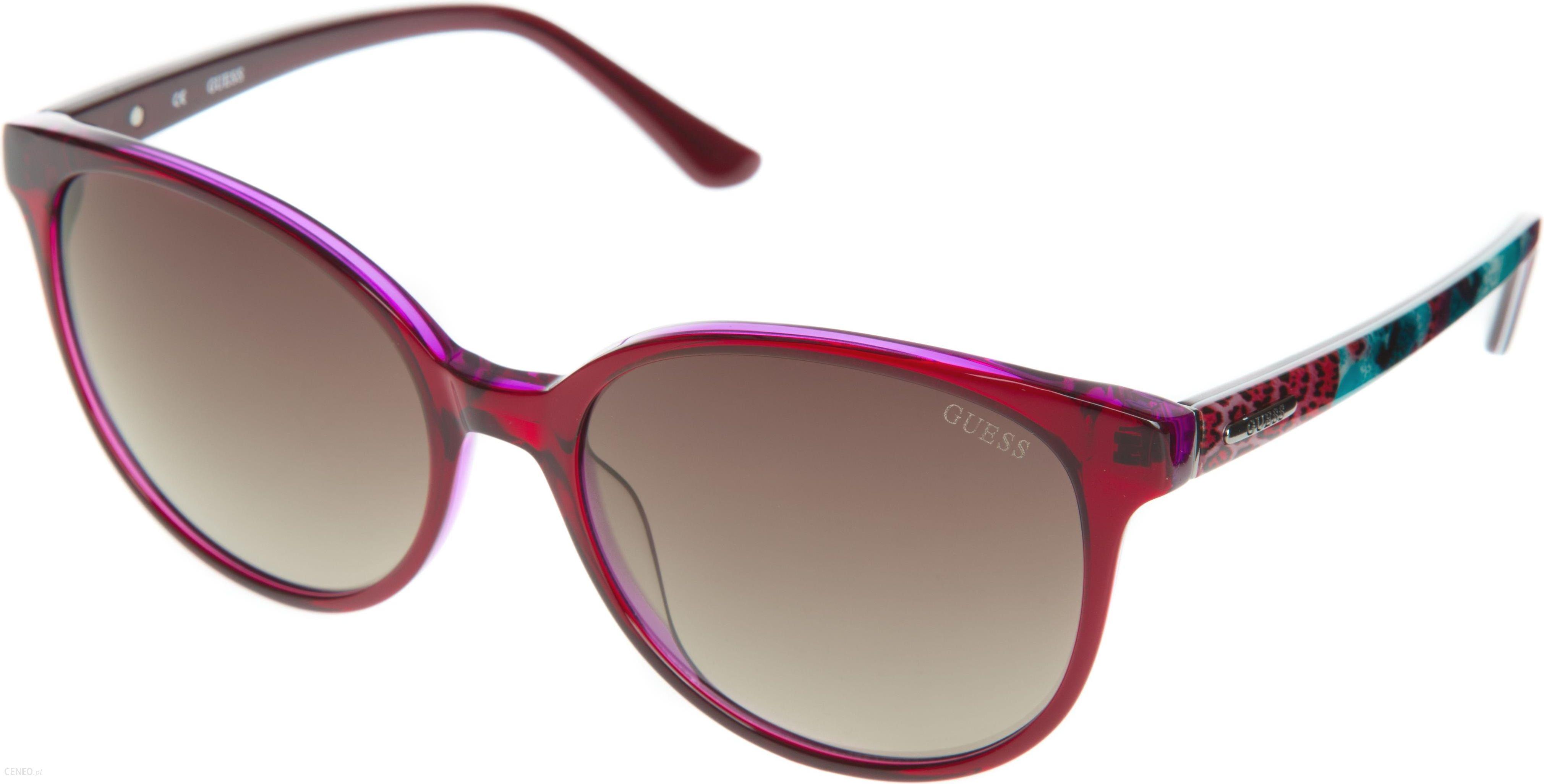 7e77d61921e21 Guess Okulary przeciwsłoneczne Czerwony Fioletowy Wielokolorowy UNI -  zdjęcie 1