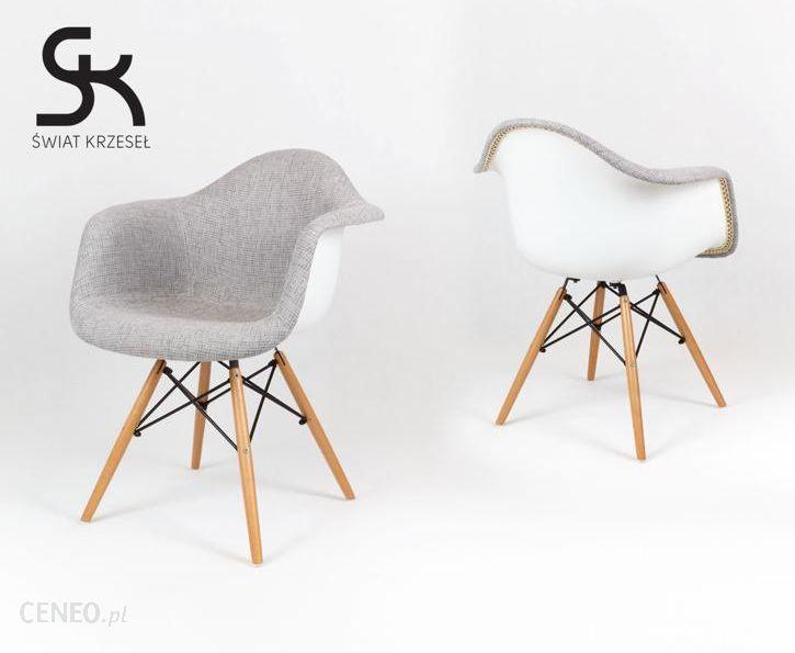 Sk Design Kr012F Tp Fotel Mondi Daw Biały Drewno Buk