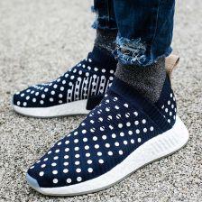 buty adidas nmd runner knit turkusowe białe