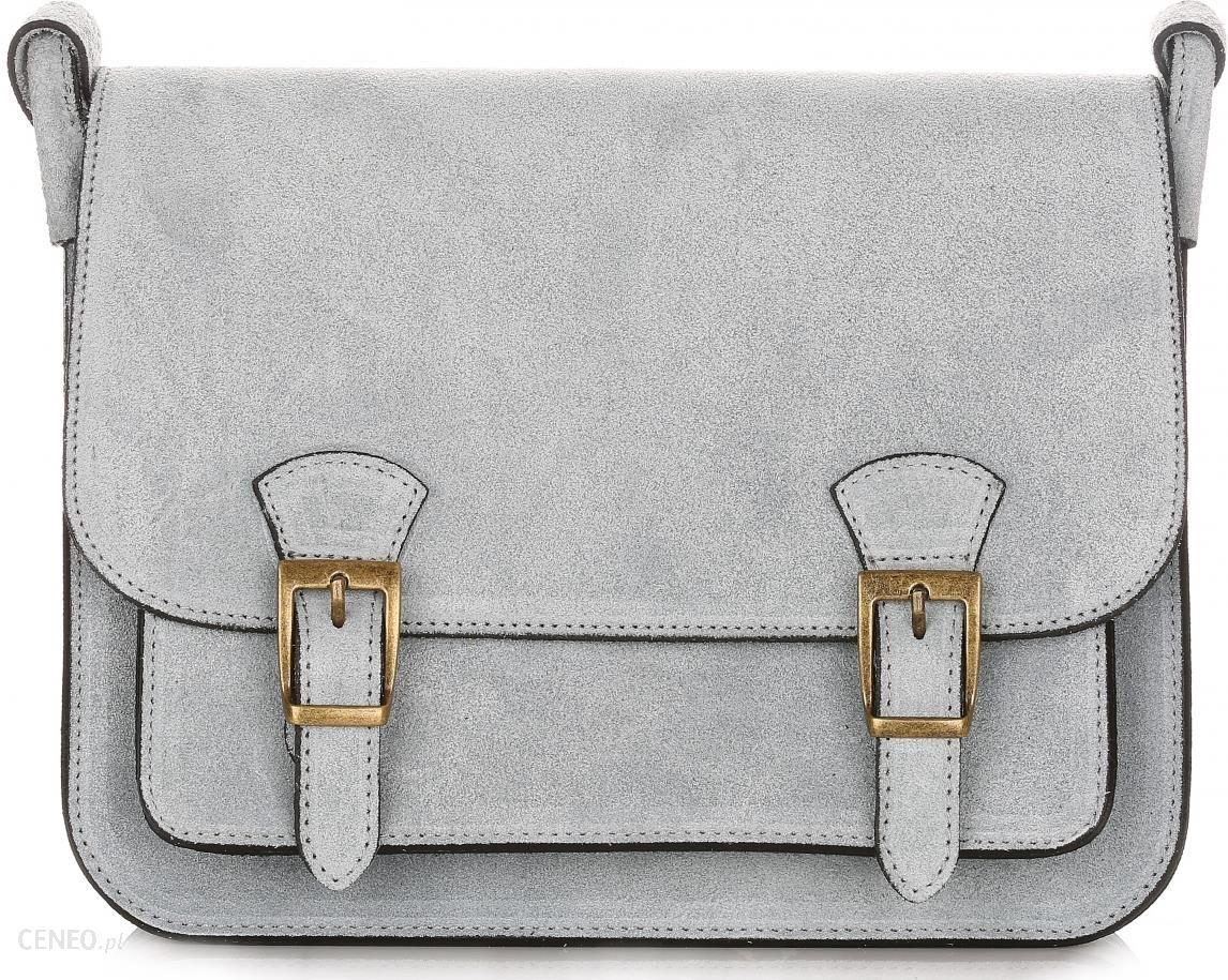039d84653a021 Torebka Skórzana Listonoszka Genuine Leather Błękitna (kolory) - zdjęcie 1