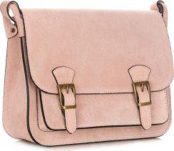 feaff8c222395 Torebka Skórzana Listonoszka Genuine Leather Pudrowy Róż (kolory) ...