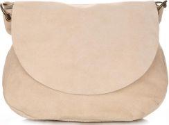 8b257a95689c9 Uniwersalna Torebka Skórzana Listonoszka Genuine Leather Beżowa (kolory) -  zdjęcie 1