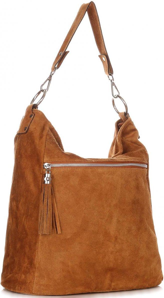 251a61fae9561 Uniwersalne Torebki Skórzane Genuine Leather Ruda (kolory) - Ceny i ...