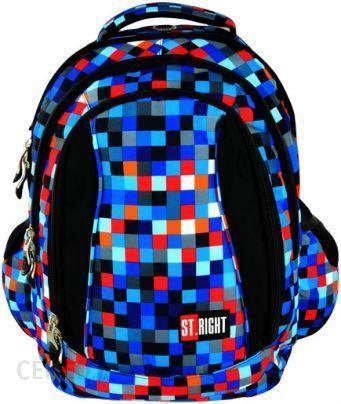 St.Majewski Plecak Młodzieżowy Pixelmania Blue Bp 04 St.Right