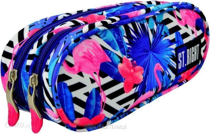 1499a1827c0eb Majewski Piórnik Szkolny Saszetka Dwukomorowa Stright Flamingo Pinkblue  Pu-02 - zdjęcie 1