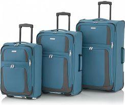 834bdc18481cf Komplet walizek na 2 kółkach Paklite by Travelite - Rocco - turkusowy