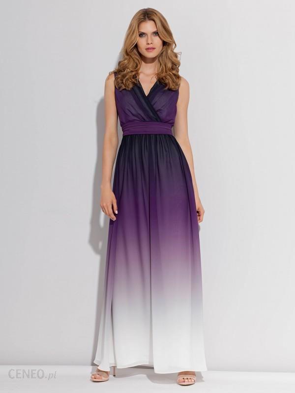 Sukienka maxi z cieniowanej tkaniny RAINBOW