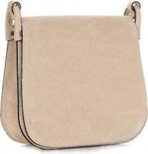 fce29dee51f96 Torebki Listonoszki Skórzane Firmy Genuine Leather Beżowa (kolory) ...