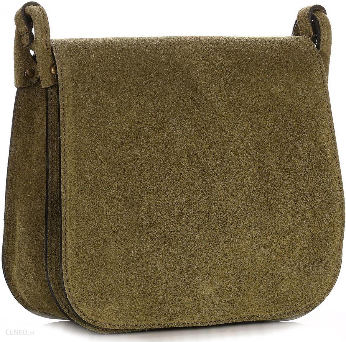 1def40a35aa43 Torebki Listonoszki Skórzane Firmy Genuine Leather Zielona (kolory) -  zdjęcie 1