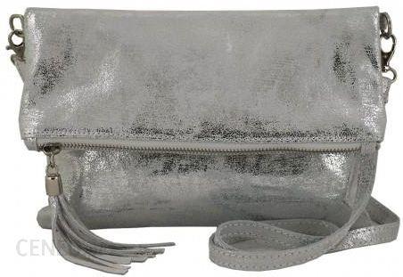 Modne torebki listonoszki ze skóry metalizowanej Barberini's