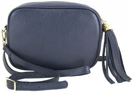 3d8c8fc1e475d Barberini s - małe torebki listonoszki ze skóry naturalnej - Granatowy -  zdjęcie 1