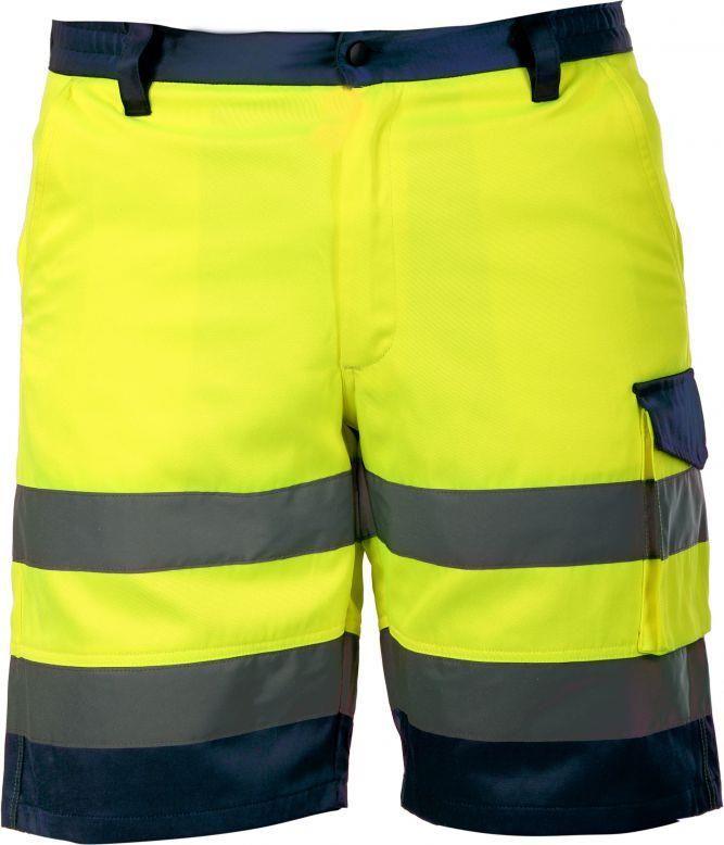 d6887ddfbc14b6 Lahti Pro Spodnie krótkie ostrzegawcze żółte L (L4070103) - Ceny i ...