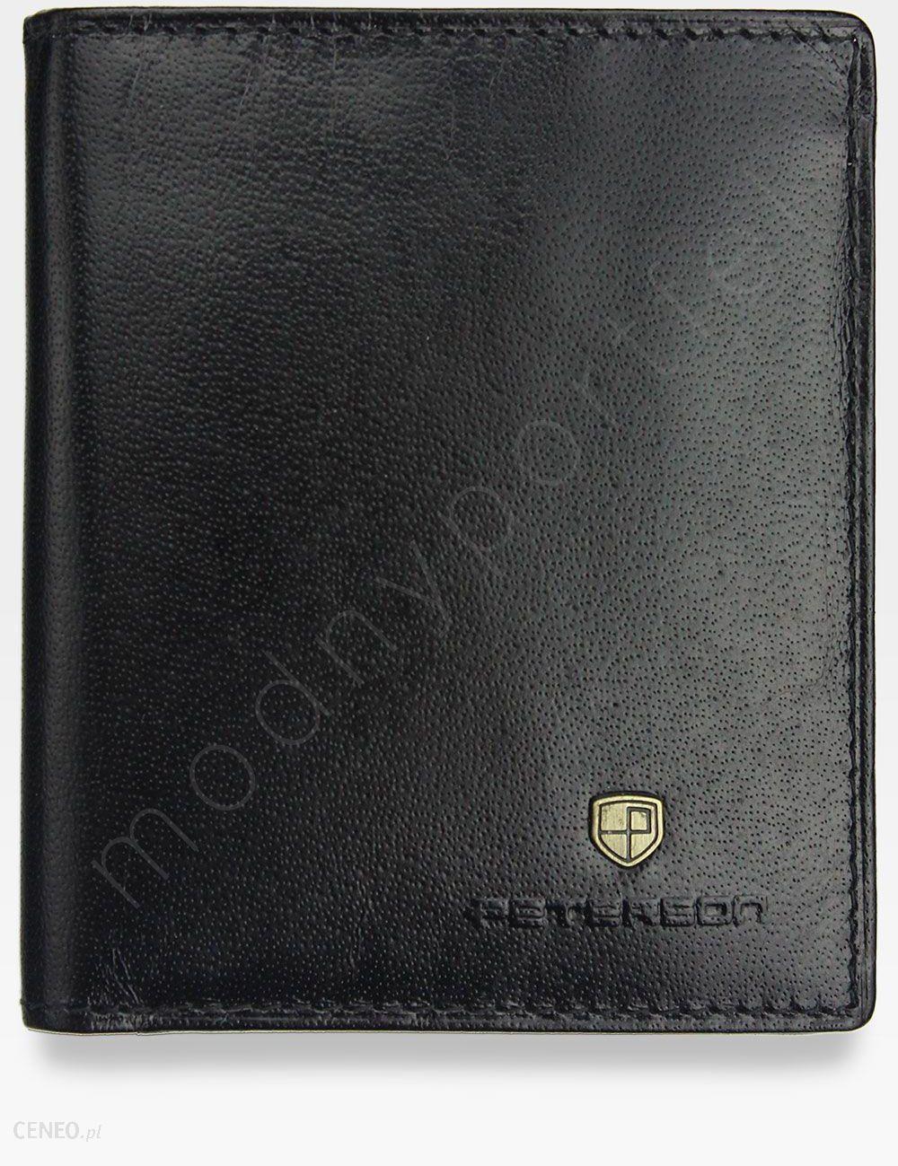2f08b004a4830 Kompaktowy Portfel Męski Skórzany Peterson Czarny 322 - Czarny - zdjęcie 1