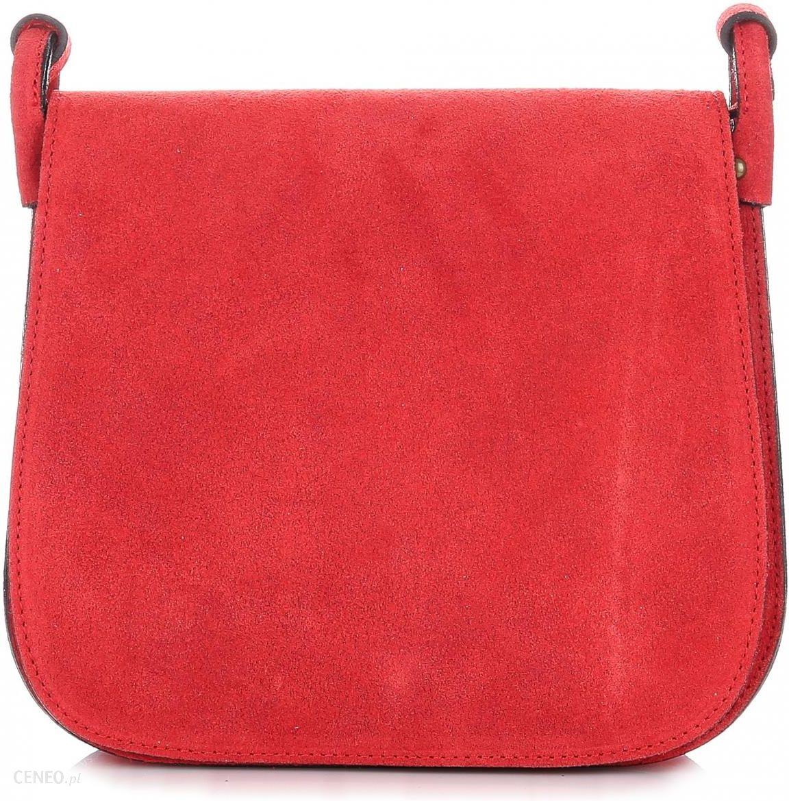 95a7b25c88b58 Torebki Listonoszki Skórzane Firmy Genuine Leather Czerwona (kolory) -  zdjęcie 1