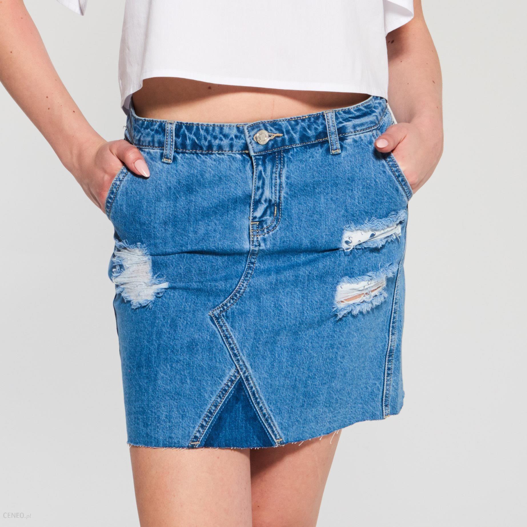 7356a66edfb2b5 Sinsay - Jeansowa spódnica - Niebieski - damski - Ceny i opinie ...