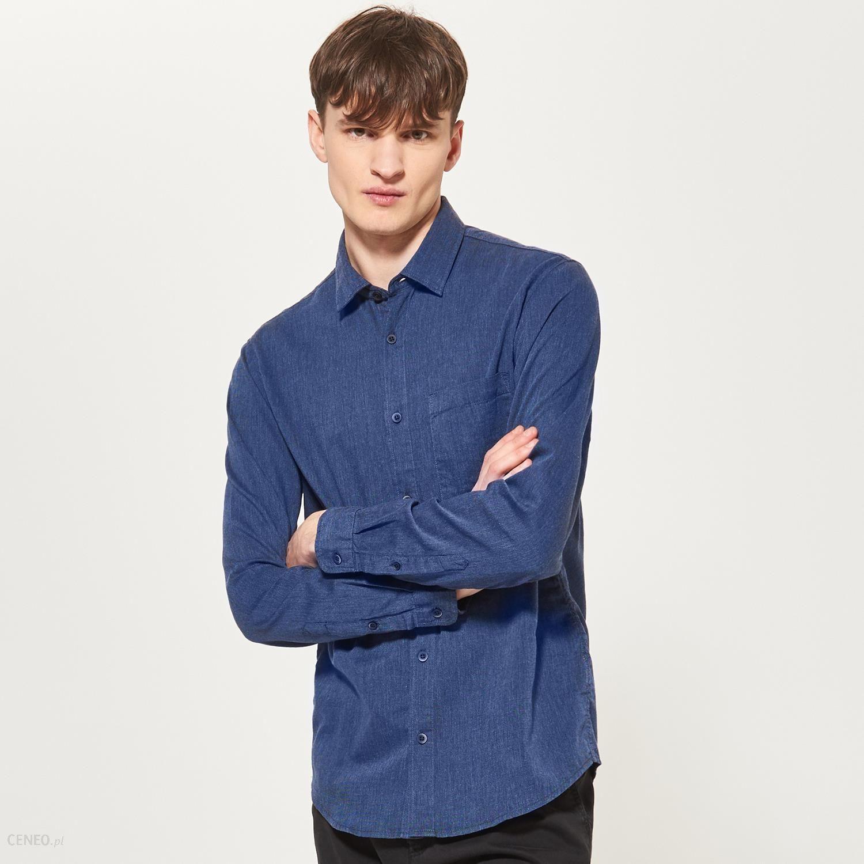 5b66dc7dc5e4 Reserved - Koszula z kieszonką - Niebieski - męski - Ceny i opinie ...