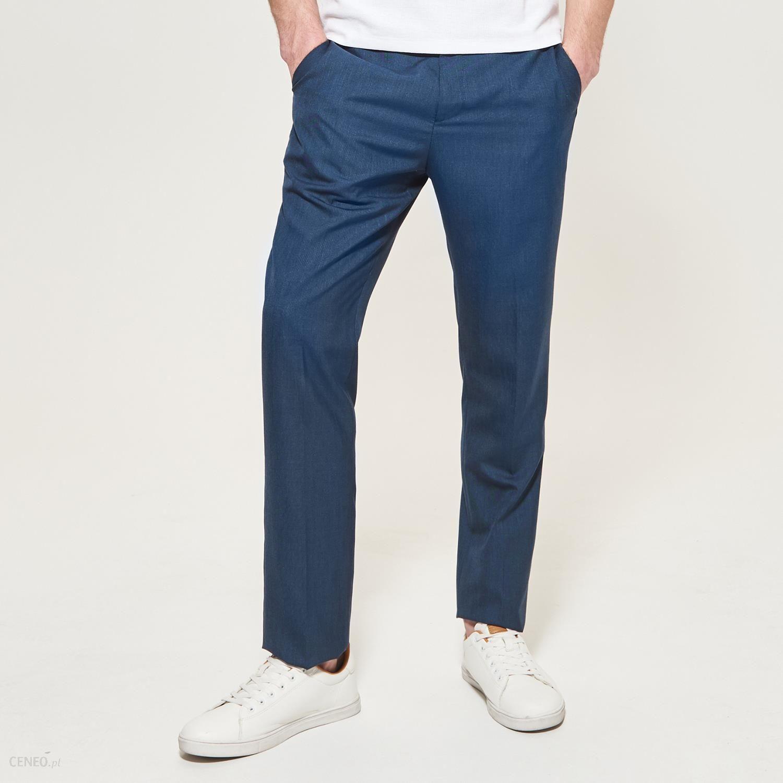 2dfac479b8156a Reserved - Garniturowe spodnie - Granatowy - męski - Ceny i opinie ...