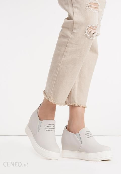 Szare Sneakersy Meriva